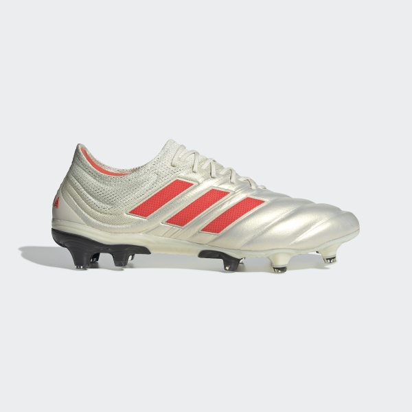 8c6b6dde63 Botas de Futebol Copa 19.1 – Piso Firme Off White   Solar Red   Core Black