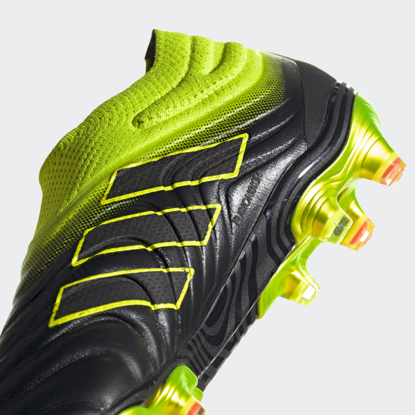 8fae0433ab Copa 19+ Firm Ground Boots Core Black   Solar Yellow   Core Black BB8087