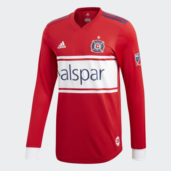 e328121b1ba Chicago Fire Home Authentic Jersey Scarlet / Dark Blue / White CD3703