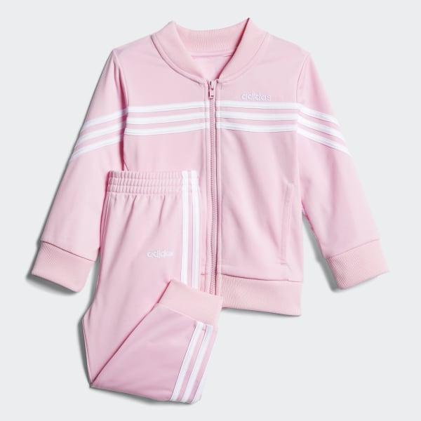 68e4700a0a adidas Linear Tricot Jacket Set - Pink | adidas US