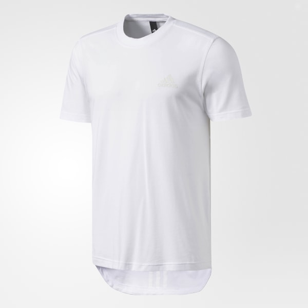 57878da9fe adidas Essentials Droptail 3-Stripes Tee - White | adidas US