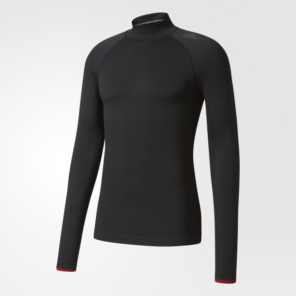 6e151ff77a84f adidas Techfit Climaheat Shirt - Black | adidas US