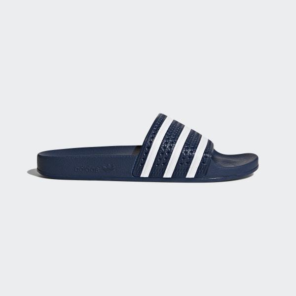 40a8f6d76 Adilette Slides Adi Blue / White / Adi Blue 288022