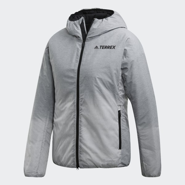 Veste Windweave Insulated Hooded Gris adidas | adidas France