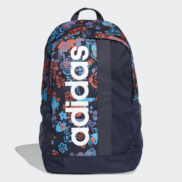 b889d129d Linear Core Graphic Backpack Legend Ink / Shock Cyan / White DT5652