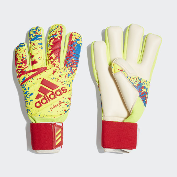 timeless design 9f1c6 3a0d4 Classic Pro Gloves Solar Yellow   Active Red   Football Blue DT8745