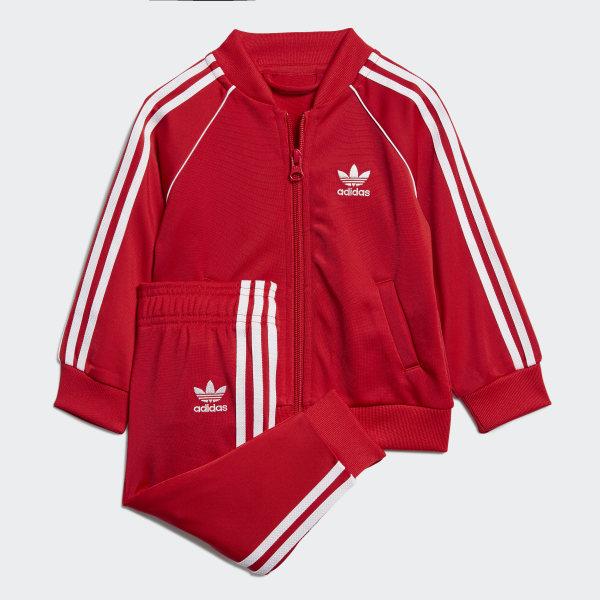 adidas Originals Authentic Tracksuit in Red | ASOS