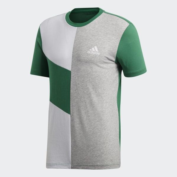 352b523d0 Sport ID Colorblock Tee Bold Green / White / Medium Grey Heather CF9547