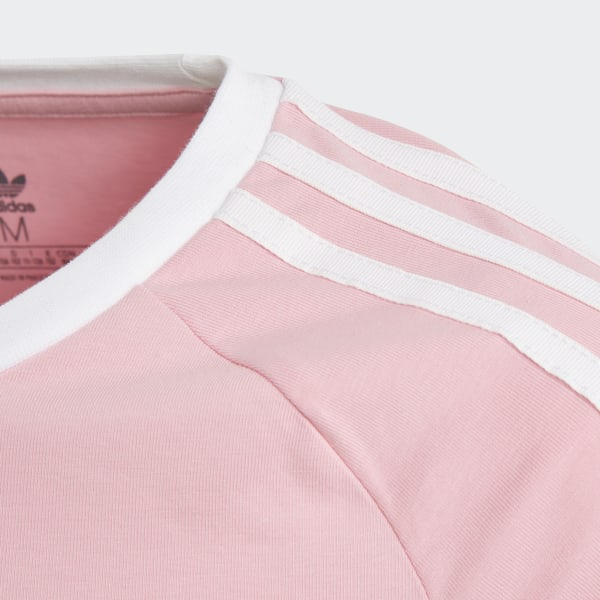 7ca4e674 adidas 3-Stripes Cropped Long-Sleeve Top - Pink | adidas UK