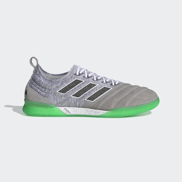 bda49f80e Copa 19.1 Indoor Shoes Multi Solid Grey   Core Black   Solar Lime BC0562