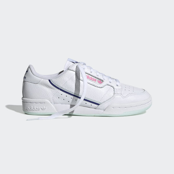Details about adidas Originals Continental 80 J Ice Mint Leather Youth Trainers Shoes