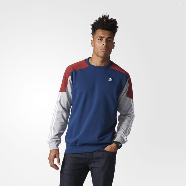 62ddc0589 Climalite Nautical Sweatshirt Mystery Red / Mystery Blue / Medium Grey  Heather / White BK7999