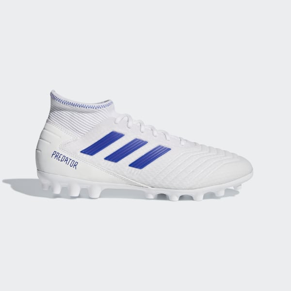 01d4afdf1 Predator 19.3 Artificial Grass Boots Ftwr White   Bold Blue   Bold Blue  D97943