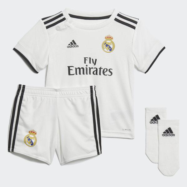 ce61192e83596 Kit bébés Real Madrid Domicile Core White   Black CG0562