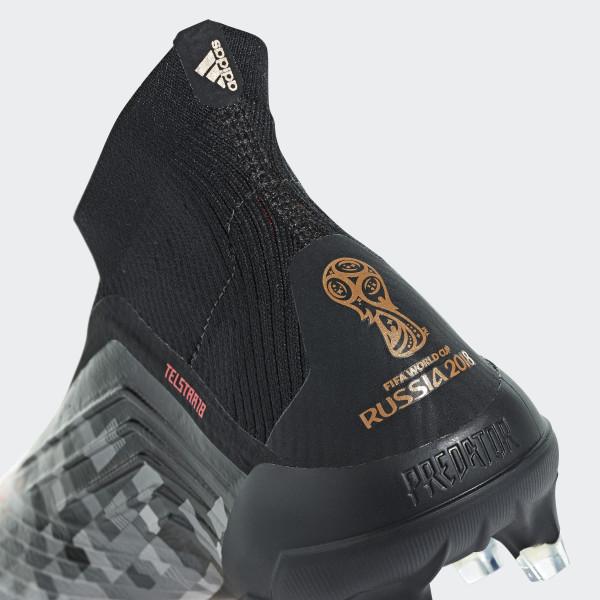 bc8a4f88210 Predator Telstar18 Firm Ground Boots Core Black   Copper Met.   Ch Solid  Grey BB7414