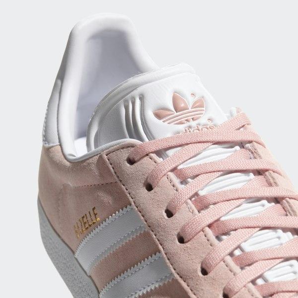 pick up c4dbe b9781 Gazelle Shoes Vapor Pink   White   Gold Metallic BB5472