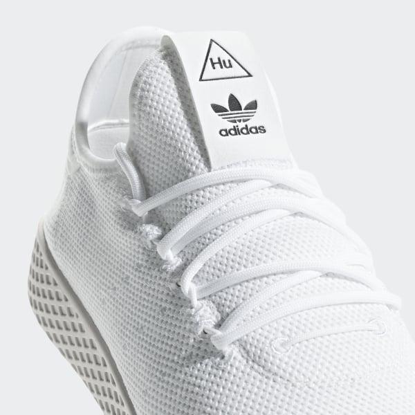 buy online 59e18 908b2 Pharrell Williams Tennis Hu Shoes Cloud White   Cloud White   Chalk White  B41792