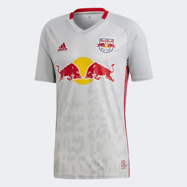 new product 154ee 3a603 adidas New York Red Bulls Home Jersey - Grey | adidas UK