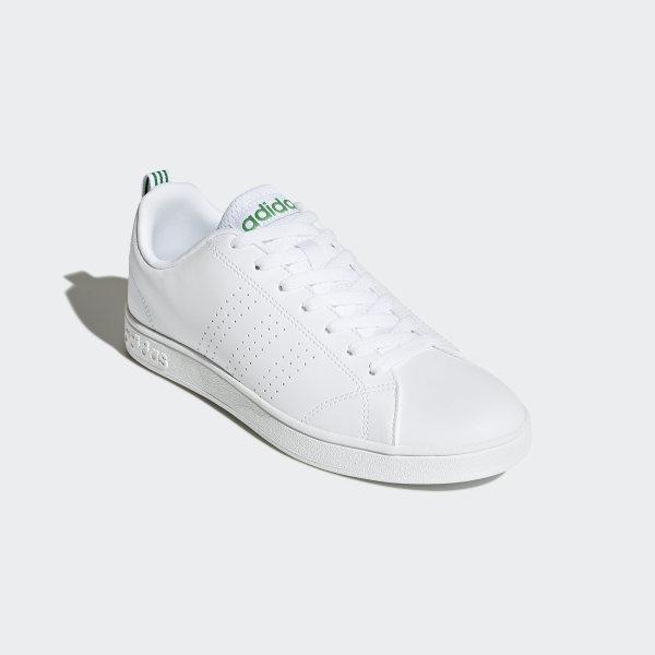 8fe2919e9c80 VS Advantage Clean Shoes White   Green   Green F99251