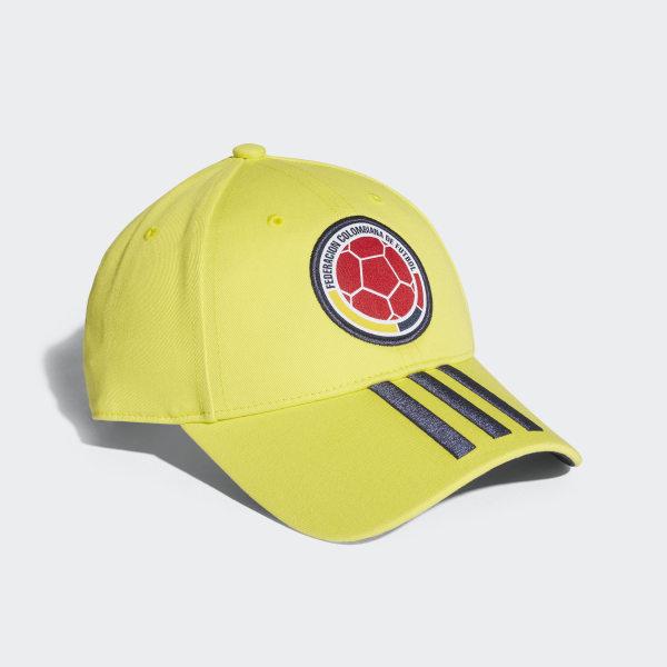 0234b992b16c6 Colombia 3-Stripes Hat Bright Yellow   Collegiate Navy CF5208