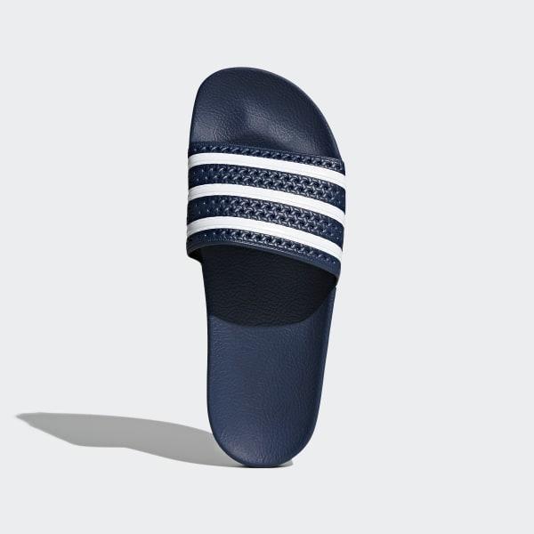 best sneakers cd030 3bc64 Claquette adilette Adiblue   White   Adi Blue 288022