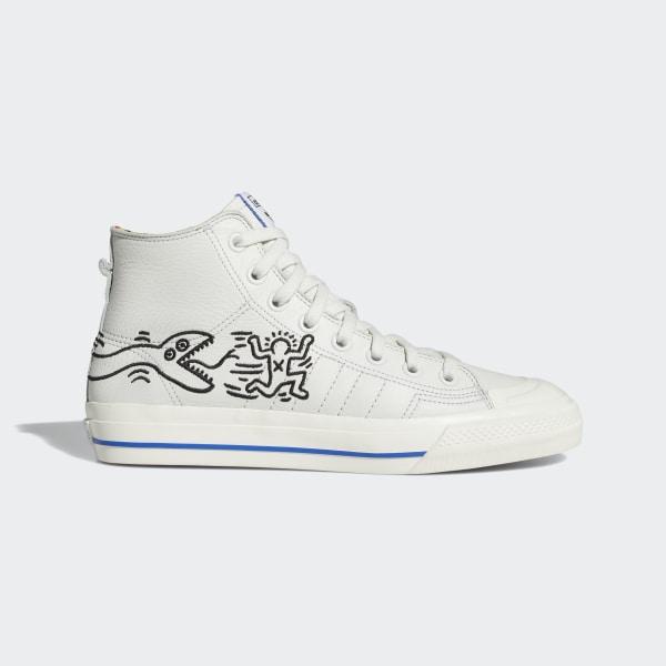adidas Nizza Hi RF Keith Haring Shoes White | adidas US