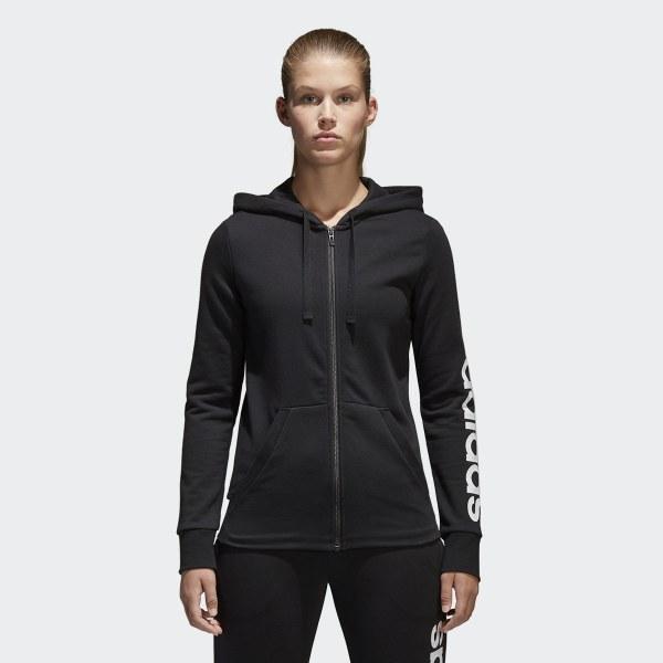 6bef8cabea Veste à capuche Essentials Linear Full Zip - noir adidas | adidas France