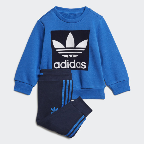 adidas Crew Sweatshirt Set Blau | adidas Deutschland
