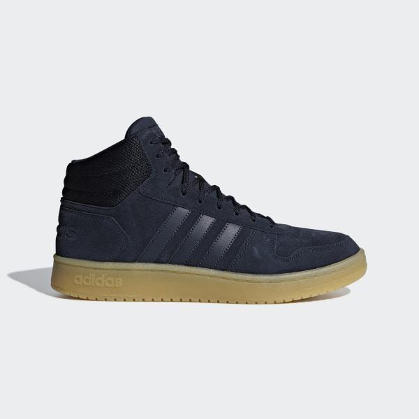 adidas Heren Zwarte Hoops 2.0 Mid Maat 41 13