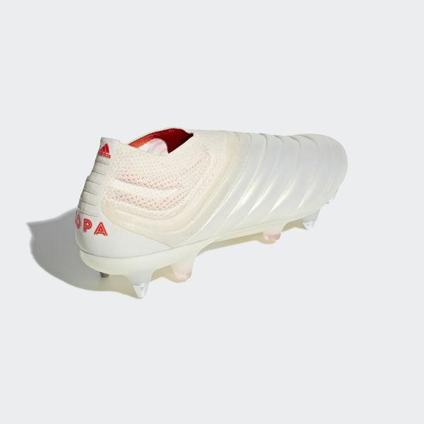 e5d53548da52 Copa 19+ Soft Ground Boots Beige / Solar Red / Off White F36073