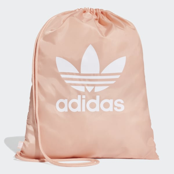 776591e1909fc adidas Sportowa torba-worek Trefoil - Różowy | adidas Poland