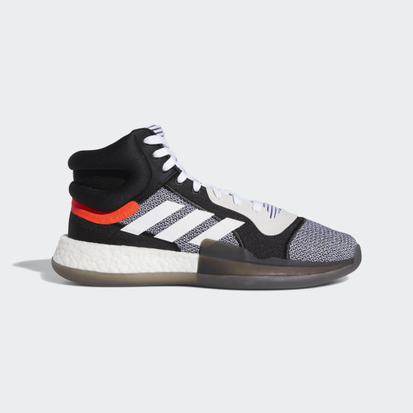 7ffbbe6bc8c Marquee Boost Shoes Cloud White   Core Black   Solar Red BB7822