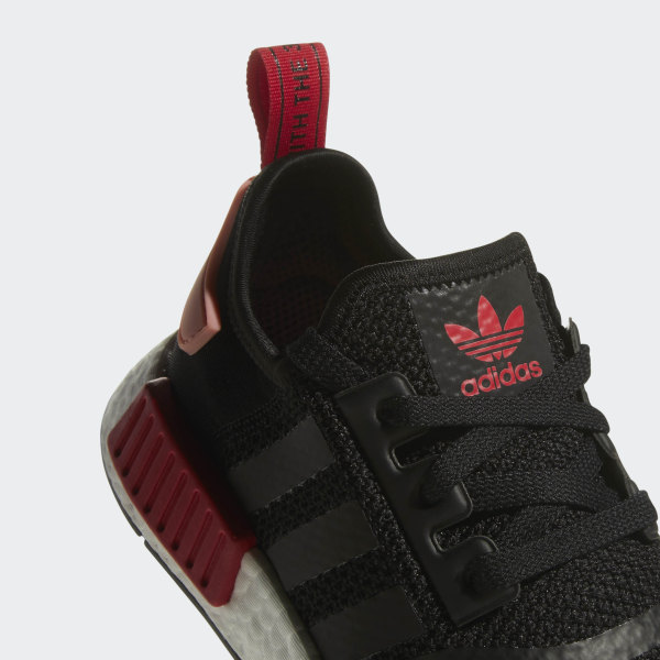 e02aafb7966d NMD R1 Shoes Core Black   Tactile Rose   Bold Red D97088
