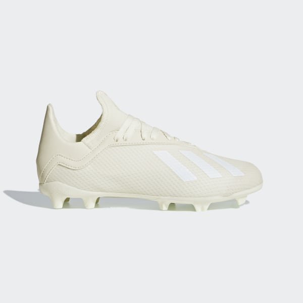 94688947180 X 18.3 Firm Ground Voetbalschoenen Off White / Ftwr White / Gold Met. DB2417