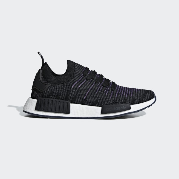 reputable site 4246d 65886 NMD R1 STLT Primeknit Shoes Core Black   Core Black   Active Purple CG6270