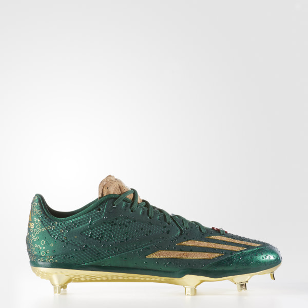 2433e6f4a765 adizero Afterburner 3 Celebrat Dark Green / Gold Metallic / Power Red B42917
