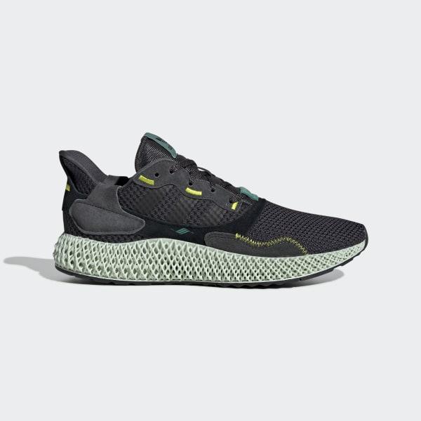 9d2d0c43f5e ZX 4000 4D Shoes Carbon / Carbon / Semi Solar Yellow BD7865