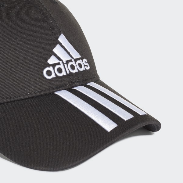 c4378f73e4 adidas Six-Panel Classic 3-Stripes Cap - Black | adidas UK