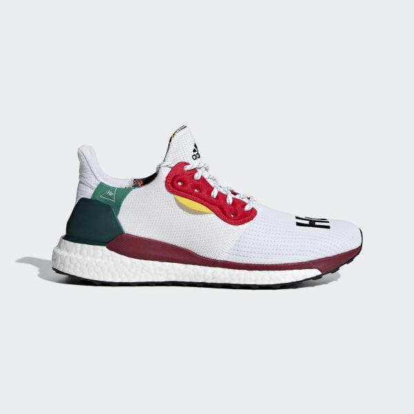 meet c1587 7905c Pharrell Williams x adidas Solar Hu Glide Shoes Cloud White   Core Black    Bold Green