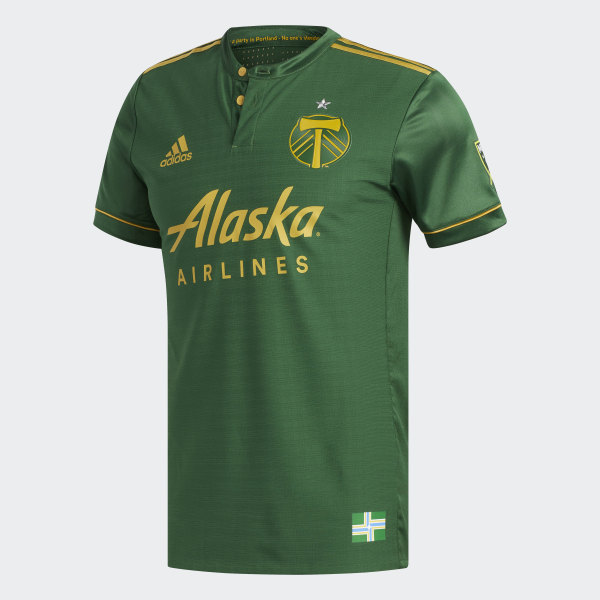 15ba66da4f1 Timbers Home Authentic Jersey Ponderosa   Ravens Gold BQ1002
