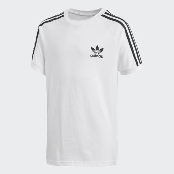 white adidas shirt with black logo