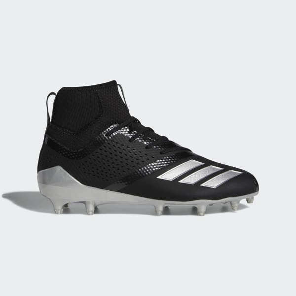 e21c305d9dc7 Adizero 5-Star 7.0 Lax Mid Cleats Core Black / Silver Metallic / Core Black