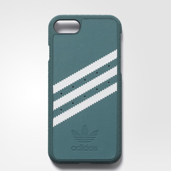 hot sale online 7b8d9 87401 adidas Moulded Case iPhone 8 Suede - Green | adidas US