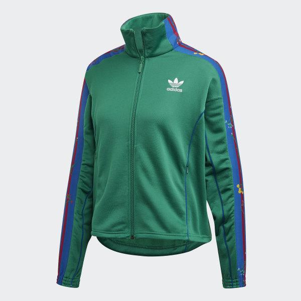 665ffde4d637 adidas Floral Track Jacket - Green | adidas Australia