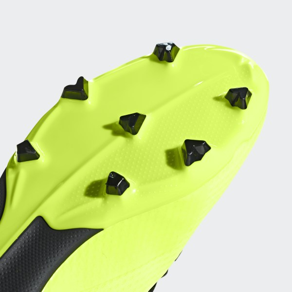 4396db0d5 X 18.3 Firm Ground Cleats Solar Yellow   Core Black   Solar Yellow DB2418