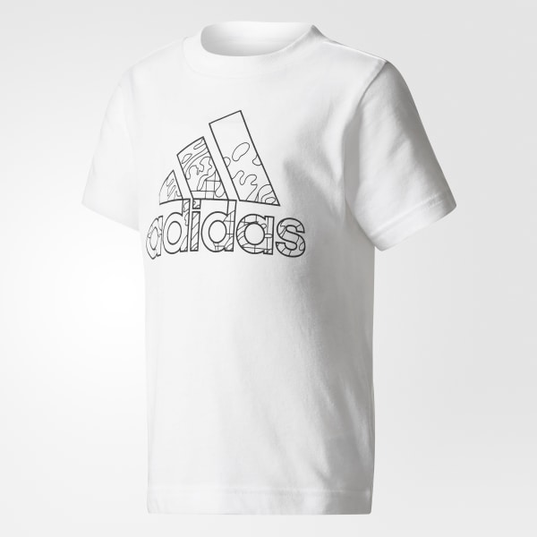 Adidas Playera Draw On Me Blanco Adidas Mexico
