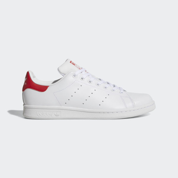 newest fdcfb 9110b Stan Smith Shoes Cloud White   Cloud White   Collegiate Red M20326