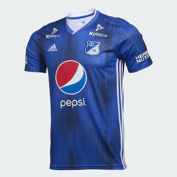 a78f0495d Camiseta de fútbol Millonarios FC Local 2019 bold blue CL2068