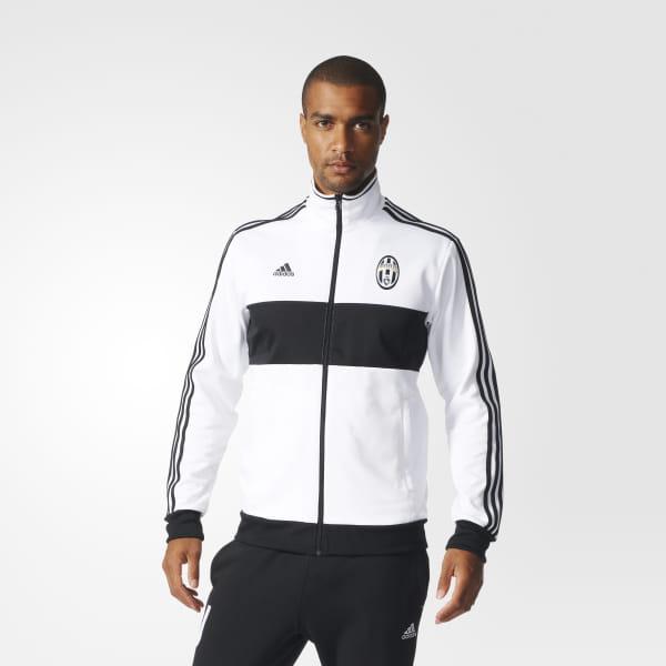 dd01096a5 Juventus 3-Stripes Track Jacket White   Black AZ5336