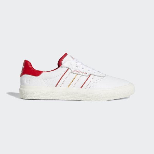 adidas Skateboarding x Evisen 3MC Shoes (white scarlet gold)